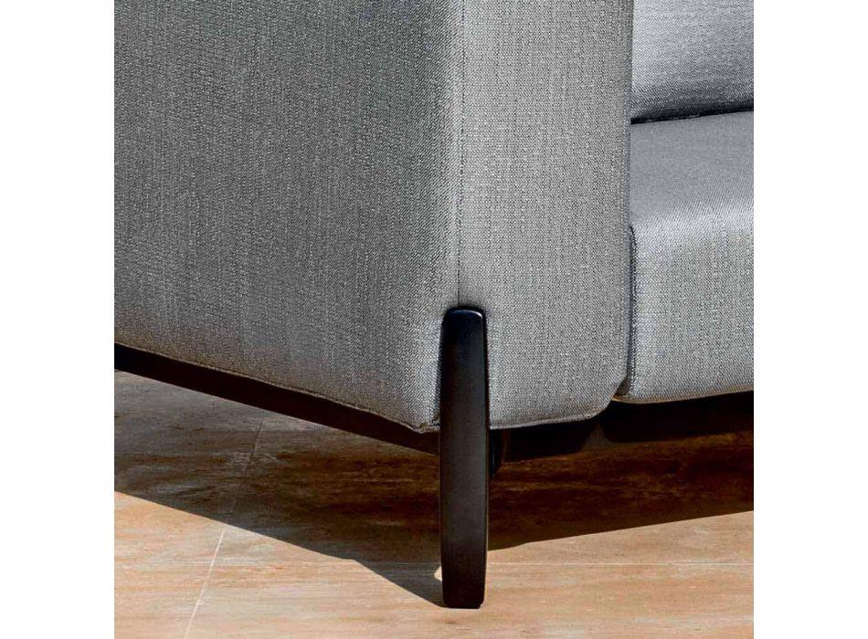 Canapé d'extérieur 3 places en aluminium design et tissu en 3 finitions - Filomena