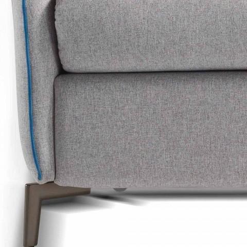 Canapé 3 tissu L.185cm design places / simili cuir fabriqué en Italie Erica