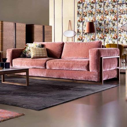 Canapé 3 places rembourré de design Grilli York fait en Italie