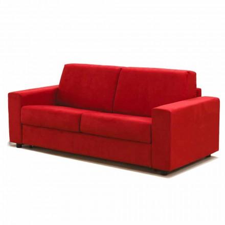 Canapé moderne 3 places maxi écocuir/tissu produit en Italie Mora