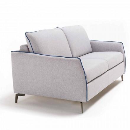 Canapé 3 places  maxi L.205cm design moderne écocuir/tissu Erica
