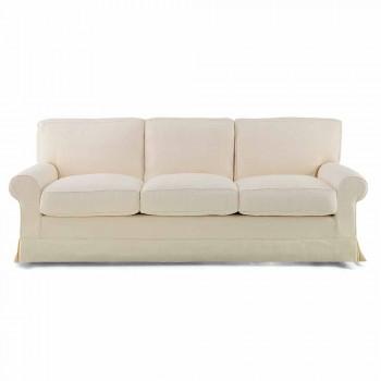 Canapé 3 places recouvert de tissu de haute qualité fabriqué en Italie - Andromeda