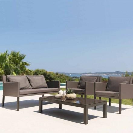Canapé de jardin 2 places en aluminium et textilène Step