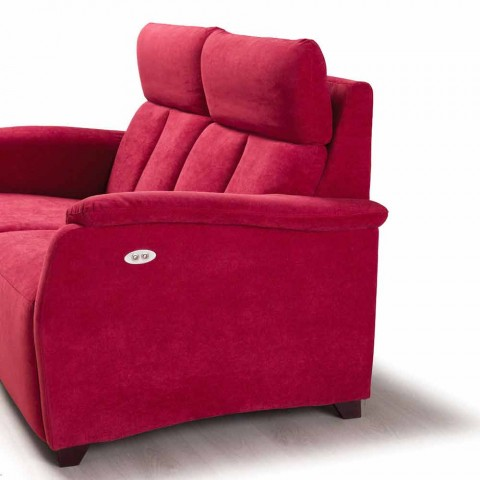 Canapé 2 places design moderne en cuir, faux cuir ou tissu Gelso