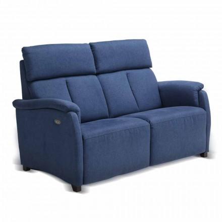 Canapé deux places design moderne cuir, écocuir ou tissu Gelso