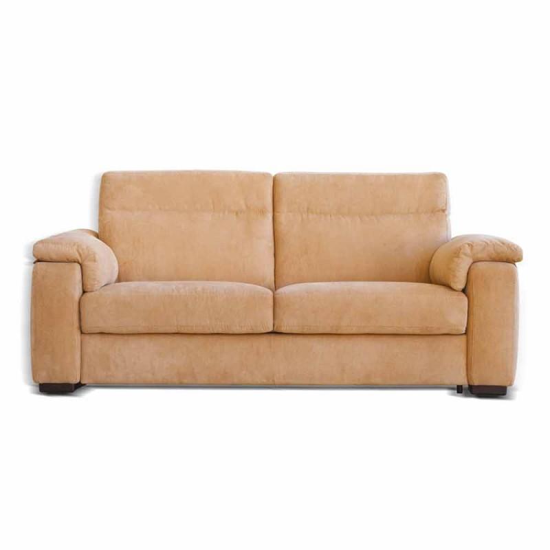 Canapé 2 places conception tissu Lilia ou en cuir, fabriqué en Italie