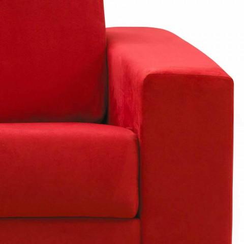 Canapé 2 places maxi faux cuir moderne / tissu fabriqué en Italie Mora
