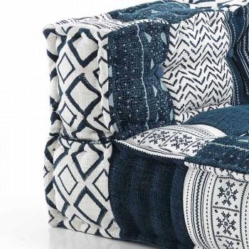 Canapé deux places design ethnique en tissu patchwork - Fibre