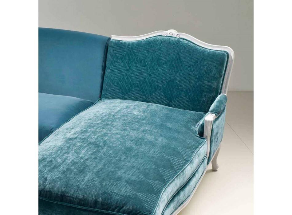 Canapé d'angle luxe design classique, fabriqué en Italie, Narciso