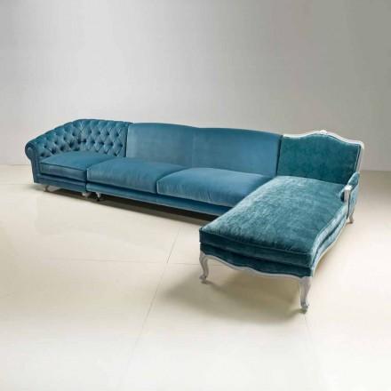Canapé à angle design classique de luxe, produit en Italie, Narciso