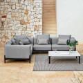 Canapé d'angle extérieur 5 places en aluminium 3 finitions, luxe - Filomena