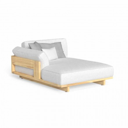 Chaise longue d'extérieur design avec coin Made in Italy - Argo by Talenti