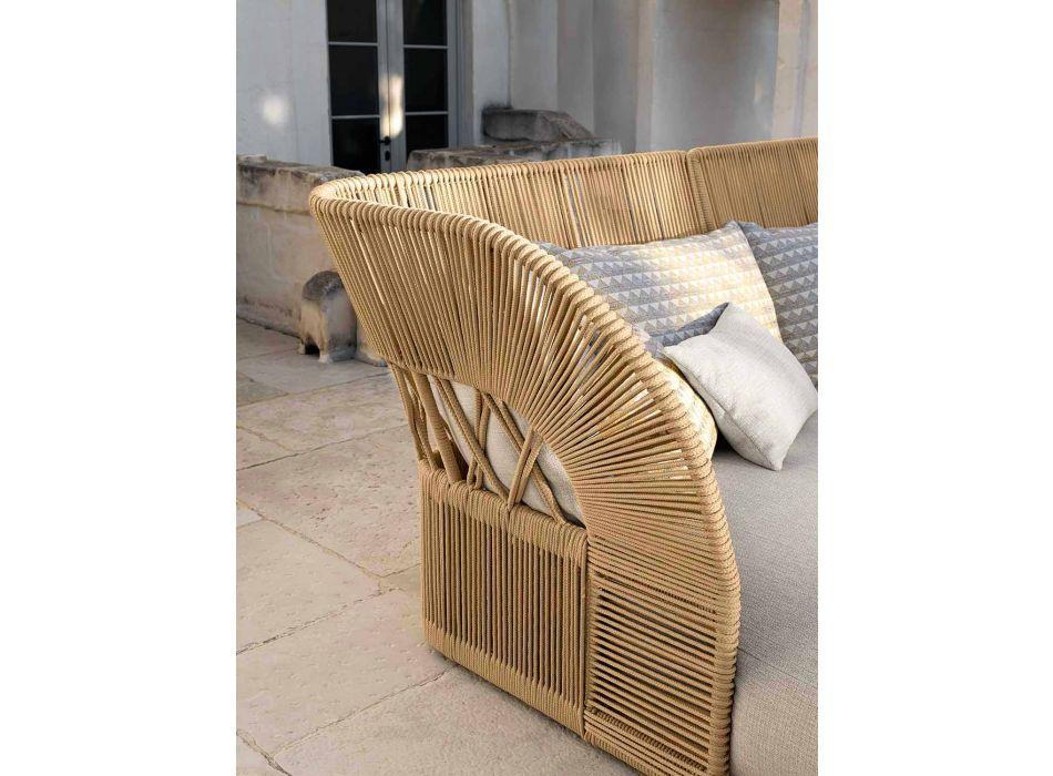 Canapé d'extérieur en corde et tissu - Cliff Decò - Talenti