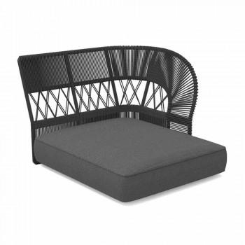 Canapé d'extérieur Chaise Longue en corde et tissu - Cliff Decò by Talenti