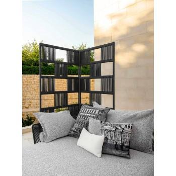 Canapé de jardin avec chaise longue en aluminium et tissu - Cruise Alu par Talenti