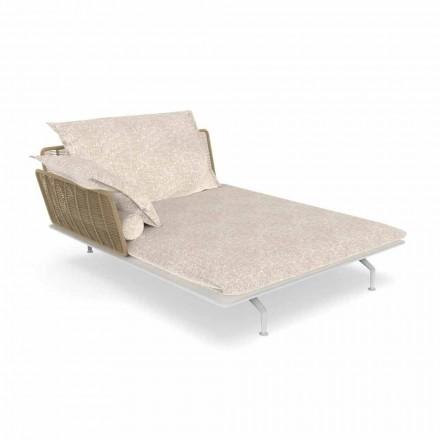 Canapé Chaise Longue de Jardin en Aluminium et Tissu - Cruise Alu by Talenti