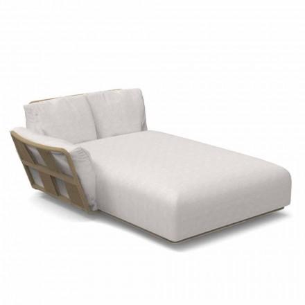 Canapé de jardin chaise longue en tissu et aluminium - Scacco by Talenti