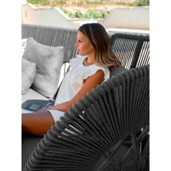 Canapé Chaise Longue de Jardin en Tissu et Corde - Cliff Decò by Talenti