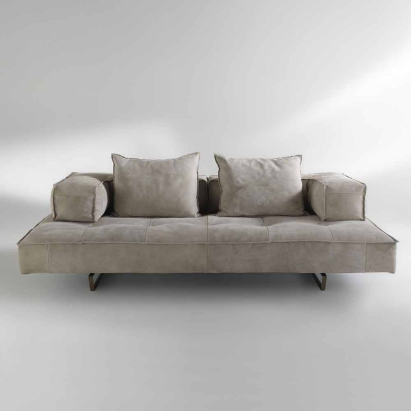 Canapé design moderne Cardo, sellerie cuir