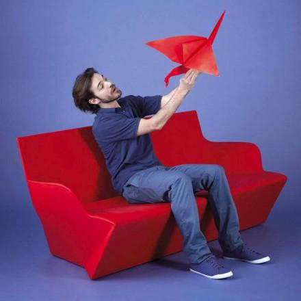 Canapé de jardin design avec accoudoirs Slide Kami Yon, fabriqué en Italie