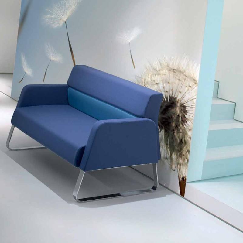Canapé d'attente en simili cuir design made in Italy Ennio
