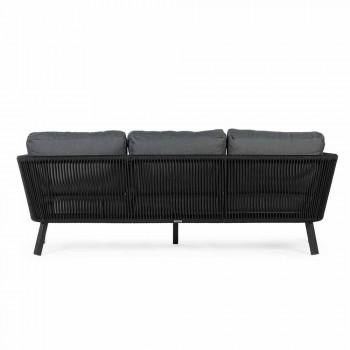 Canapé d'extérieur 3 places design en aluminium et tissu Homemotion - Morena