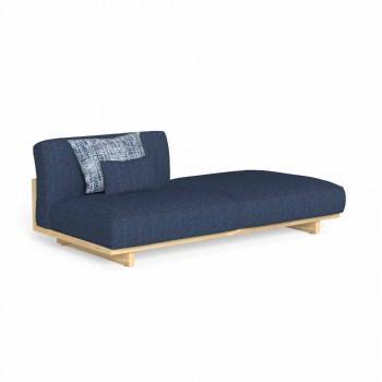Canapé d'extérieur design modulaire avec pouf gauche ou droit - Argo by Talenti