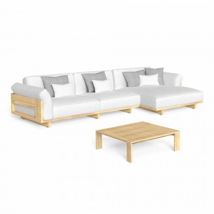 Salon extérieur avec canapé et table basse en bois de luxe - Argo by Talenti
