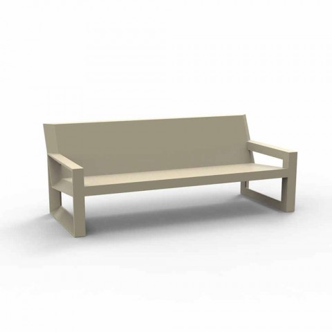 Canapé d'extérieur Frame by Vondom, en résine de polyéthylène, design