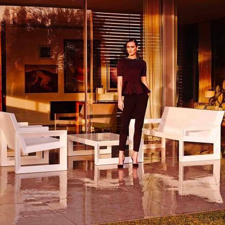 Canapé d'extérieur design moderne Frame de Vondom, en résine de polyéthylène