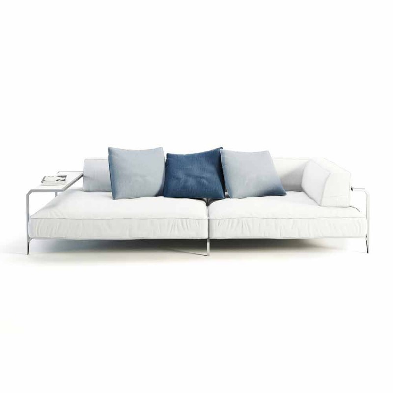 Canapé d'extérieur rembourré en tissu au design moderne fabriqué en Italie - Arkansas