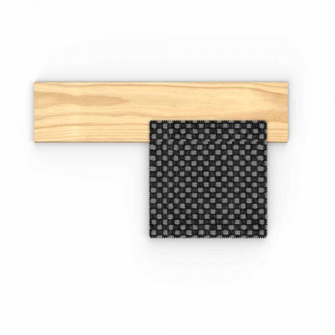 Canapé d'extérieur rembourré en tissu et bois précieux Accoya - Argo by Talenti