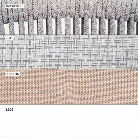 Canapé deux places empilable extérieur en tissu rembourré - Smart by Varaschin