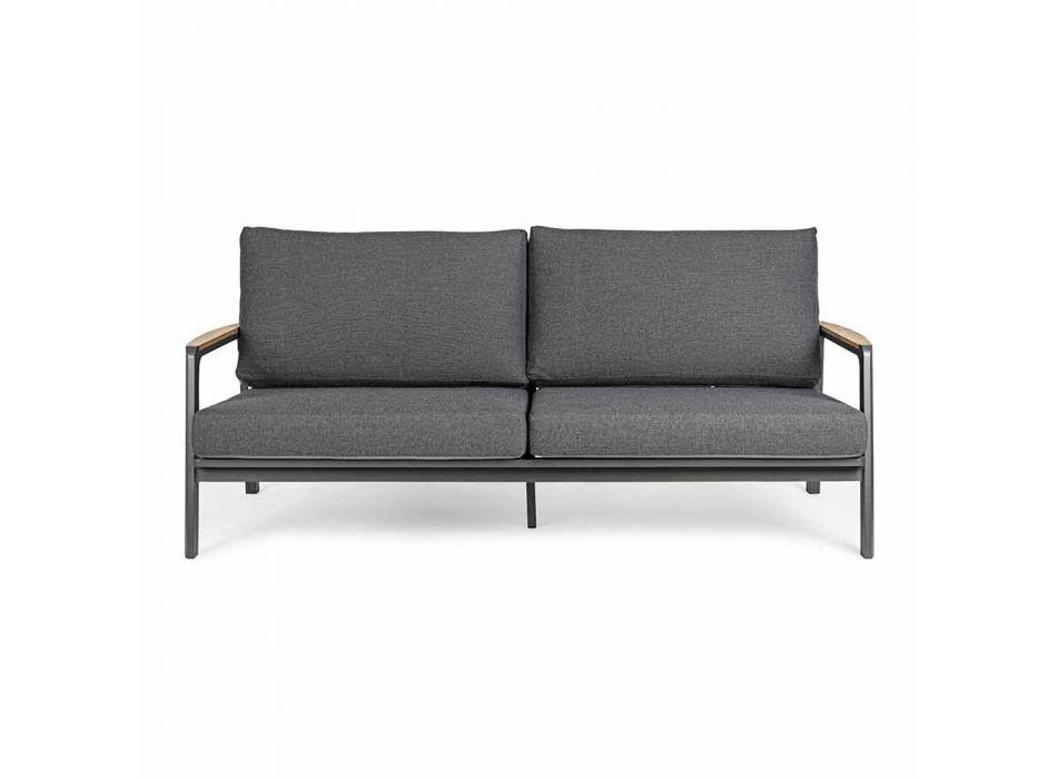 Canapé d'extérieur Homemotion en tissu avec structure en aluminium - Cara