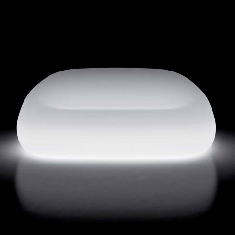 Canapé d'extérieur lumineux avec éclairage LED en polyéthylène fabriqué en Italie - Ervin