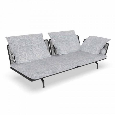 Canapé d'extérieur modulable gauche en tissu et aluminium - Cruise Alu Talenti