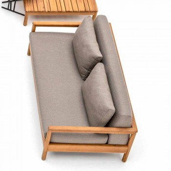 Canapé d'extérieur moderne Varaschin Bali avec coussins rembourrés