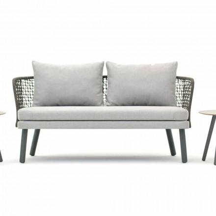 Canapé de jardin en tissu et métal de design moderne Emma Varaschin