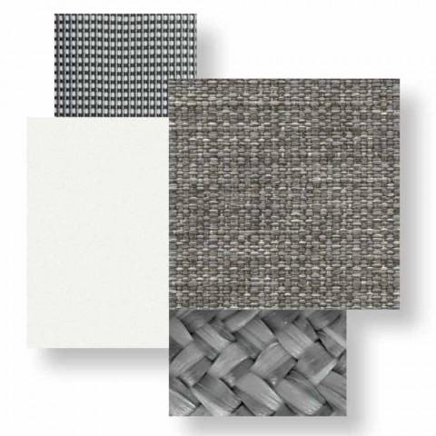 Canapé de jardin 3 places en aluminium et tissu - Cottage Luxury by Talenti