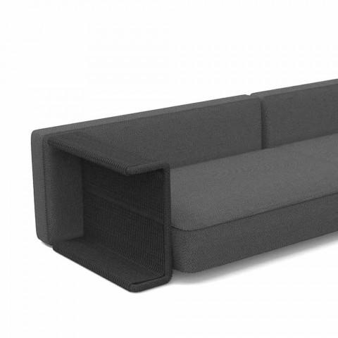 Canapé de jardin 3 places en tissu blanc, beige ou gris - Cliff Decò Talenti