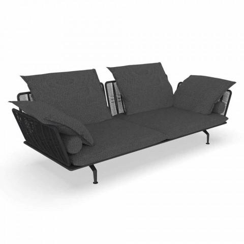 Canapé de jardin 3 places en tissu rembourré et aluminium - Cruise Alu Talenti