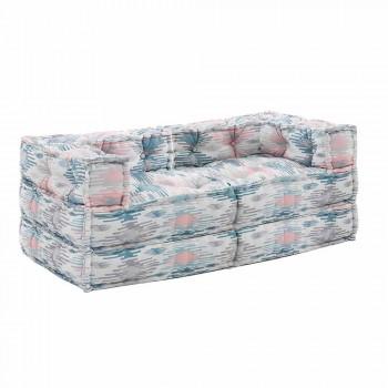 Canapé de jardin ethnique deux places en tissu déperlant - Shamo