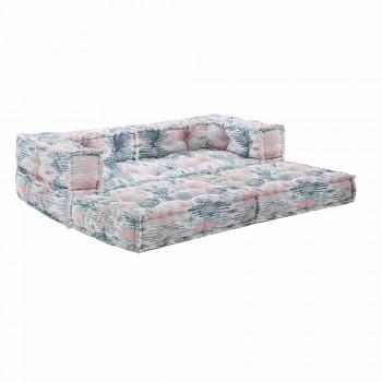 Canapé de jardin deux places ethnique en tissu déperlant - Shamo
