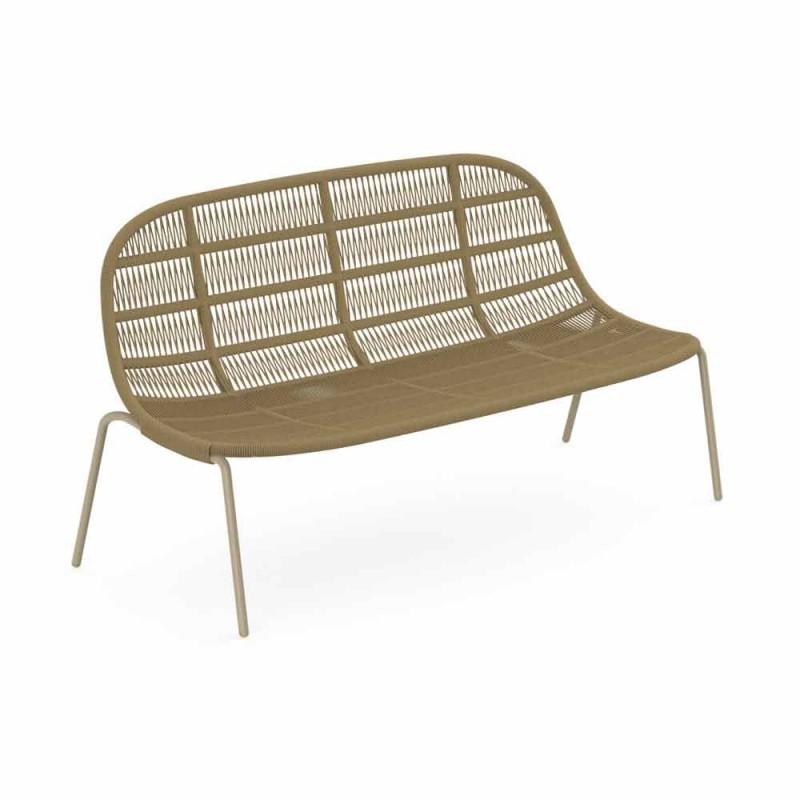 Canapé de jardin deux places en aluminium et tissu - Panama by Talenti