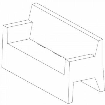 Canapé de jardin Jut by Vondom, en résine de polyéthylène, design