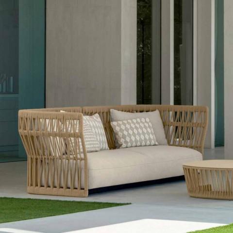 Canapé de jardin moderne Cliff Talenti, par Ludovica & Roberto Palomba