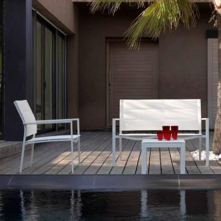 Canapé de jardin en aluminium et textilène Touch par Talenti