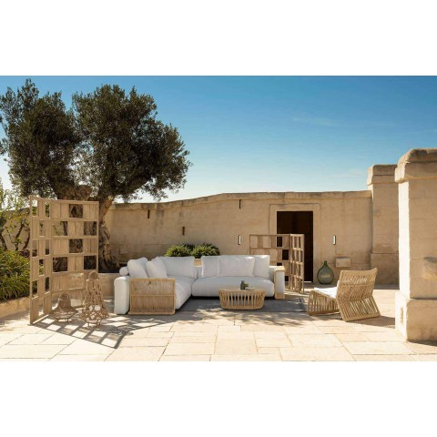 Canapé de jardin central modulable en tissu - Cliff Decò - Talenti