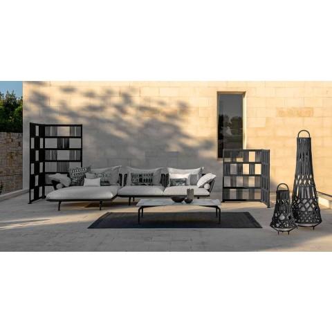 Canapé de jardin modulaire droit en aluminium et tissu - Cruise Alu by Talenti