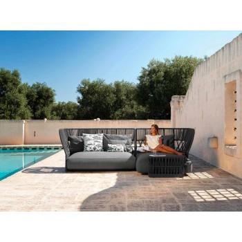 Canapé de jardin trois places de design moderne - Cliff Decò par Talenti